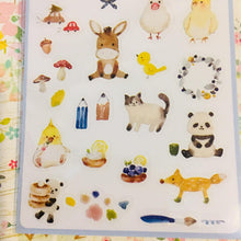Load image into Gallery viewer, BERG Animals Blue Version Transparent Sticker Sheet Pion
