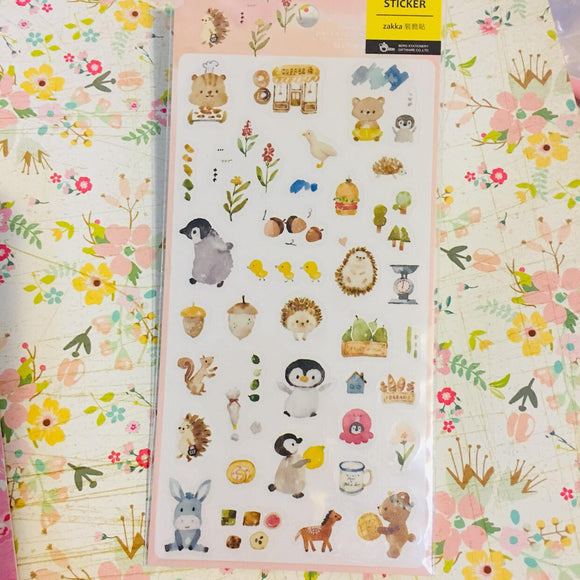 BERG Animals Pink Version Transparent Sticker Sheet Pion