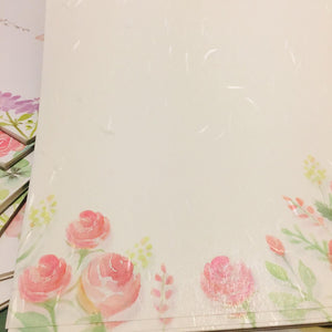 SAMPLER Washi Paper Sheets Pink Roses Flowers