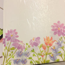 Load image into Gallery viewer, SAMPLER Washi Paper Sheets Purple Daisies