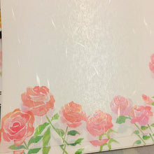 Load image into Gallery viewer, SAMPLER Washi Paper Sheets Pink Roses Ver 2