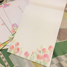 Load image into Gallery viewer, SAMPLER Washi Paper Sheets Pink Roses Flowers