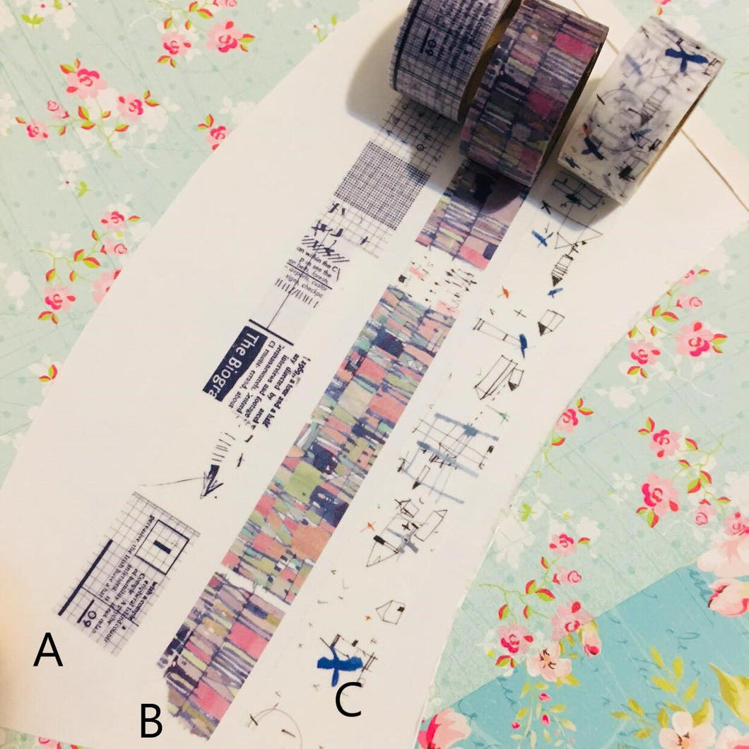 50cm Chamil Garden Original Design Washi Tape Sample