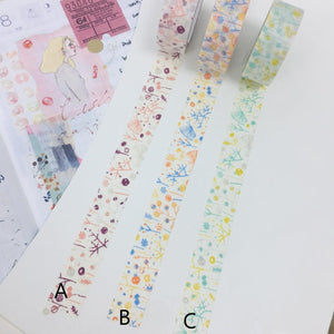 50cm Classiky Original Design Washi Tape Sample A B C