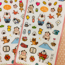 Load image into Gallery viewer, BERG Japan Kawaii Cute Aesthetic Transparent Sticker Sheet Pink
