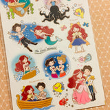 Funny Sticker World The Little Mermaid Sticker Sheet Gold Foiled