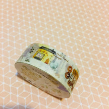 Load image into Gallery viewer, BERG x Pion Blue Animal Pastel Watercolor Washi Masking Tape Roll