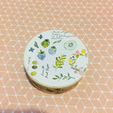 BERG x Pion Plants Pastel Watercolor Washi Masking Tape Roll Version 1