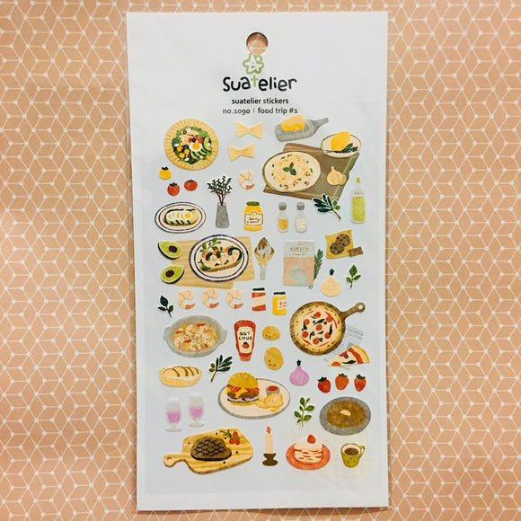 Suatelier Design food trip #1 sticker sheet