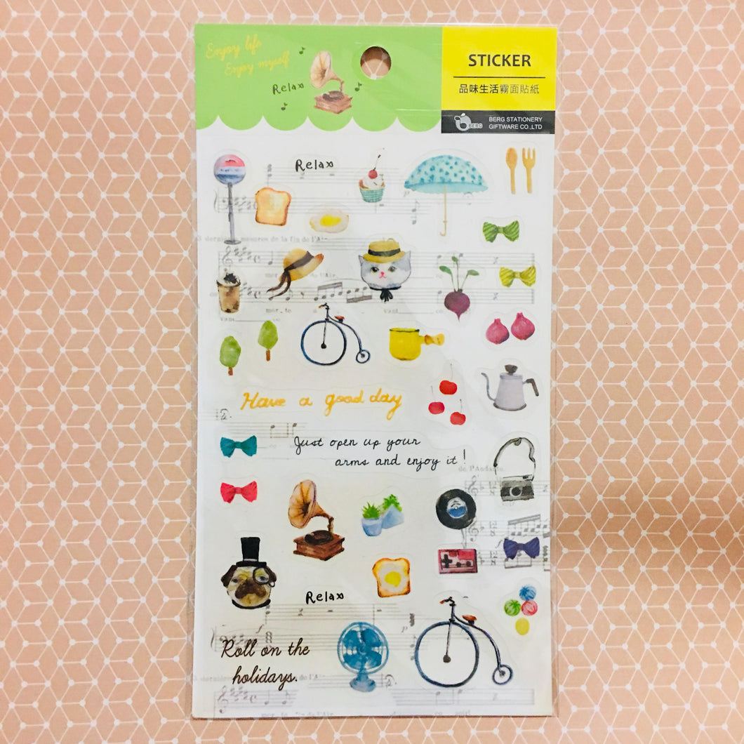 BERG Enjoy Daily Life Transparent Sticker Sheet