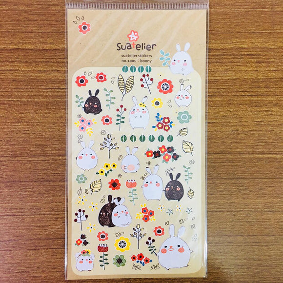 Suatelier Design bonny bunny sticker sheet