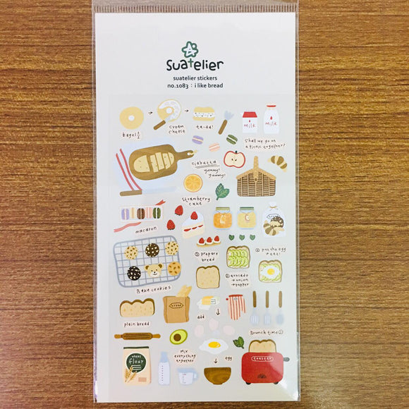 Suatelier Design i like bread sticker sheet