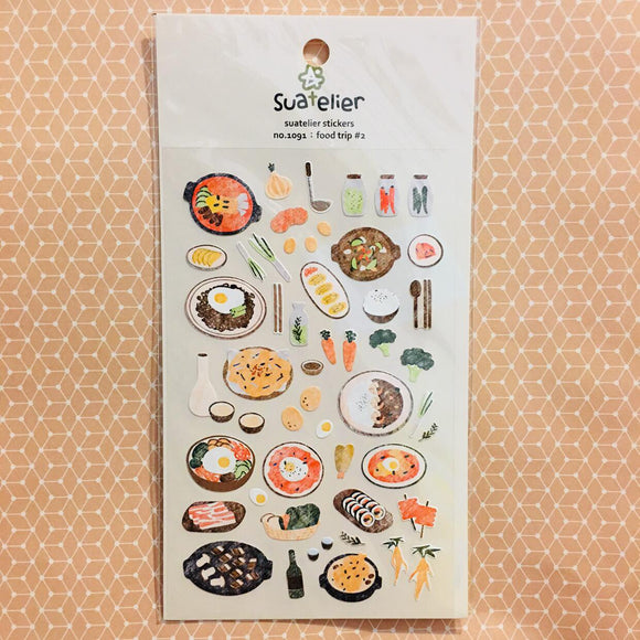 Suatelier Design food trip #2 sticker sheet