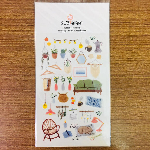 Suatelier Design home sweet home sticker sheet