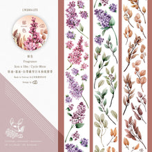 Load image into Gallery viewer, 90cm Loidesign Flower Leaves PET Washi Tape Sample