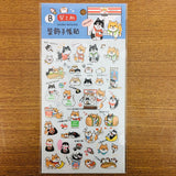 SUNNY Shiba Dog Convenient Store Transparent Sticker Sheet