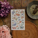 Loidesign Spring Flowers Transfer Sticker Sheets Pack