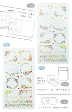 Load image into Gallery viewer, NanPao Watercolor Transparent Sticker Sheet Pattern E