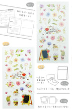 Load image into Gallery viewer, NanPao Watercolor Transparent Sticker Sheet Pattern F