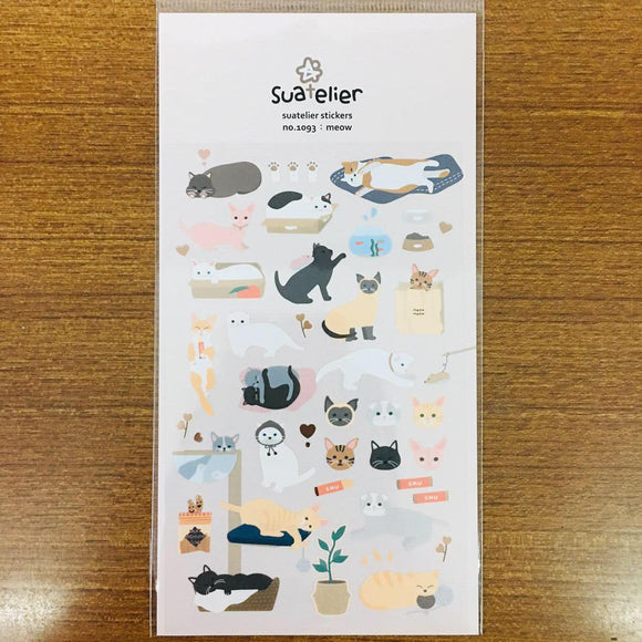 Suatelier Design meow sticker sheet