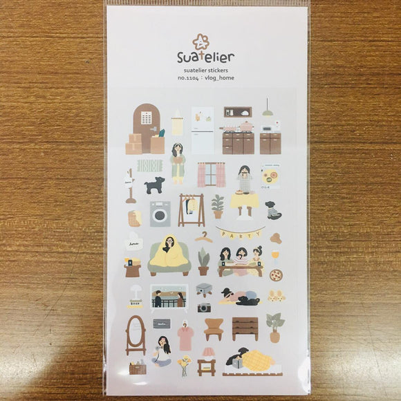 Suatelier Design vlog home sticker sheet