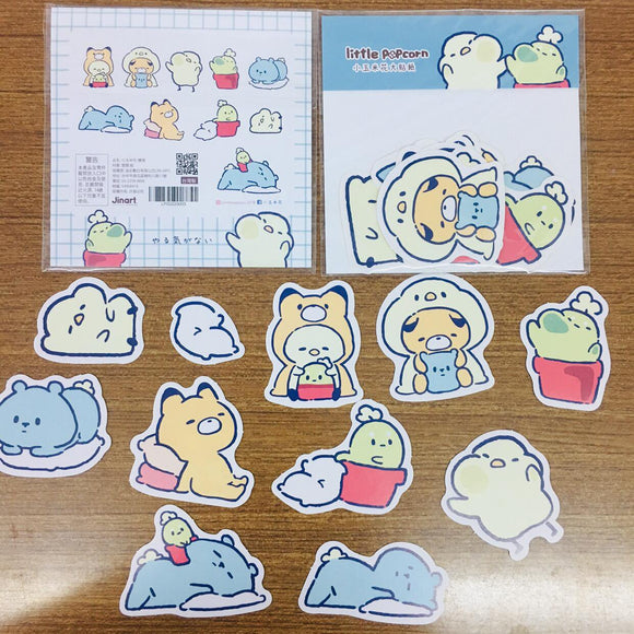 Little Popcorn Blue Sticker Flakes Pack