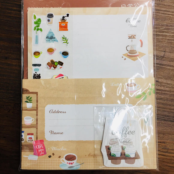 Season Coffee Time Paper Stationery Letter Set