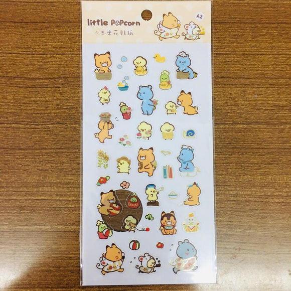 Little Popcorn Flowers Transparent Gold Foiled Sticker Sheet
