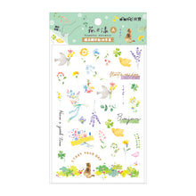 Load image into Gallery viewer, NanPao Watercolor Transfer Print-On Sticker Sheet Pattern A