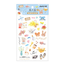 Load image into Gallery viewer, NanPao Watercolor Transfer Print-On Sticker Sheet Pattern E