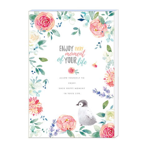 NanPao Watercolor Panda and Flowers Notepad Letter Sheets