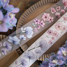 Load image into Gallery viewer, 90cm Loidesign Flowers PET Washi Tape Sample