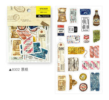 Load image into Gallery viewer, BERG Zakka Watercolor Ticker Vintage Sticker Flake Pack