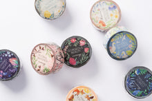 Load image into Gallery viewer, wwiinngg Twlight Forest Flowers Illustrated Washi Tape Roll