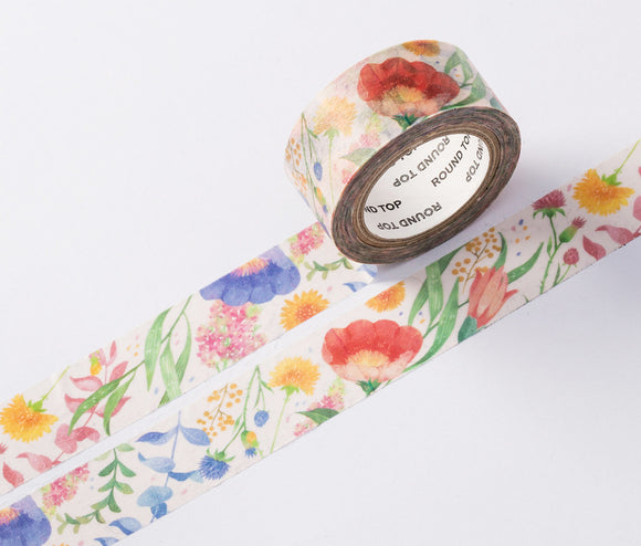wwiinngg Tender Blossoms Flowers Illustrated Washi Tape Roll