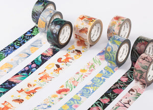 wwiinngg Twlight Forest Flowers Illustrated Washi Tape Roll