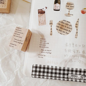 Yeoncharm Menu Rubber Wood Coffee Stamp