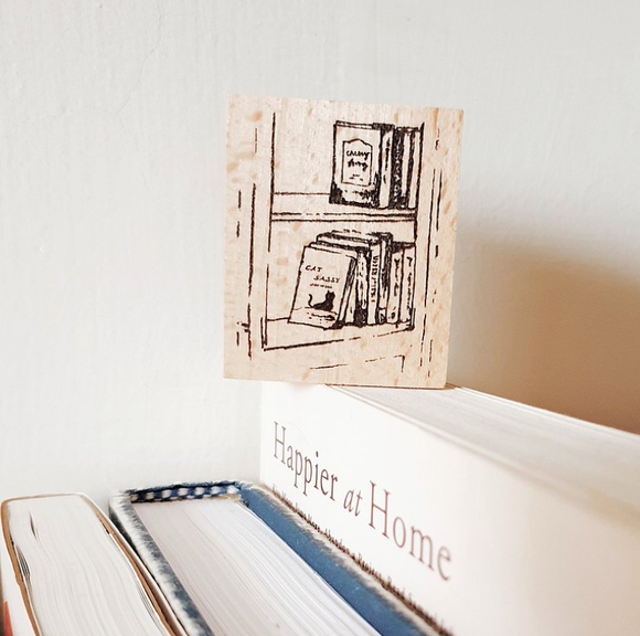 Yeoncharm Bookshelf Rubber Wood Stamp