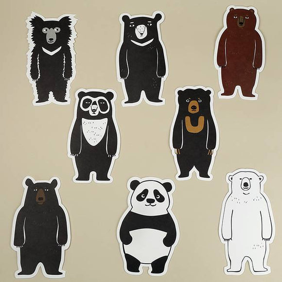 Taiwan Black Bear Postcards 8 in a Set Die Cut