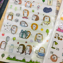 Load image into Gallery viewer, BERG Porcupine Transparent Sticker Sheet