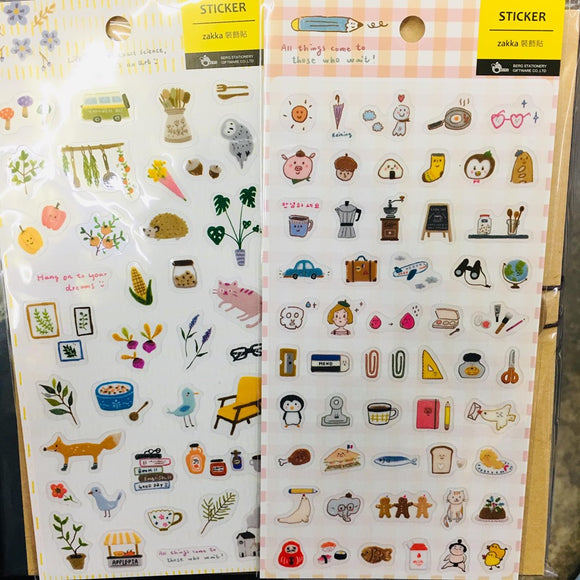 BERG Zakka Transparent Sticker Sheet