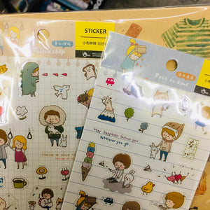 BERG Falling in Love Friendship Transparent Sticker Sheet
