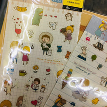 Load image into Gallery viewer, BERG Falling in Love Friendship Transparent Sticker Sheet