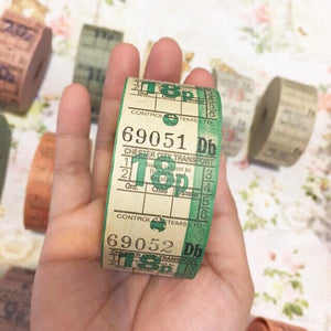 TokubetsuMemori 18P Green Vintage Ticket Samples
