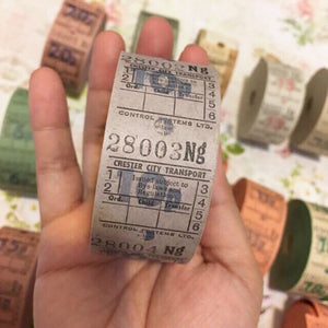 10P Vintage Ticket Samples