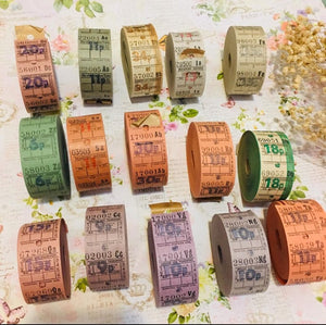 6P Vintage Ticket Samples
