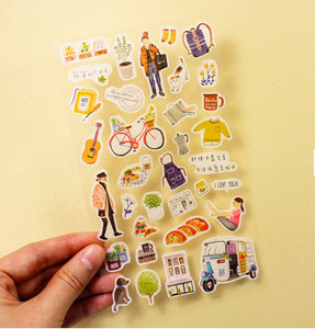 SUNNY CO. Masking Sticker Sheet Good Living A B
