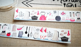 Hobby Life Washi Masking Tape Roll Red Version Kitchen Watercolor