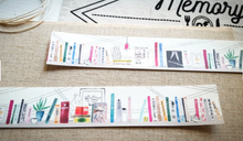 Load image into Gallery viewer, Hobby Life Washi Masking Tape Roll Bookshelf Books Watercolor