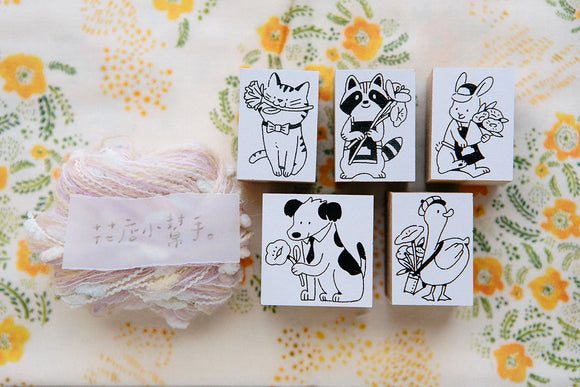 Limited OURS Studio Animals Rubber Wood Stamps